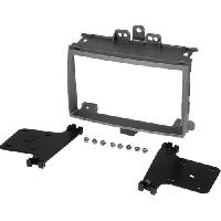Facade autoradio Hyundai Kit 2Din pour Hyundai i20 09-12 - argent