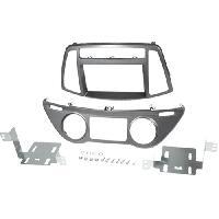 Facade autoradio Hyundai Kit 2Din pour Hyundai i20 ap12 - clim auto - gris fonce