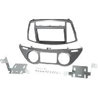 Facade autoradio Hyundai Kit 2Din pour Hyundai i20 ap12 - clim auto - gris fonce - ADNAuto