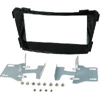 Facade autoradio Hyundai Kit 2Din pour Hyundai i40 -VF- ap11 - noir brillant - vehicule sans autoradio origine