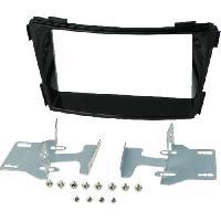 Facade autoradio Hyundai Kit 2Din pour Hyundai i40 -VF- ap11 - noir brillant - vehicule sans autoradio origine - ADNAuto