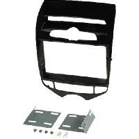 Facade autoradio Hyundai Kit 2Din pour Hyundai ix20 -JC- ap10 - noir mat - vehicule avec clim manuelle