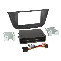 Facade autoradio Iveco kit support Autoradio compatible avec Iveco Daily VI Avec vide poche Induction Qi - Noir