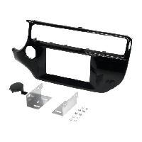 Facade autoradio Kia Facade autoradio 2DIN compatible avec Kia Rio ap14 - Noir brillant