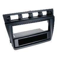 Facade autoradio Kia Facade autoradio 2Din compatible avec Kia Picanto 04-08 avec vide-poche Noir