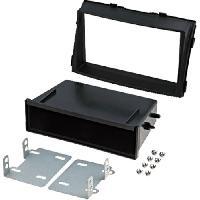 Facade autoradio Kia Kit 2Din compatible avec Kia Sorento II -XM- ap09 avec vide-poche - Noir