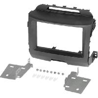 Facade autoradio Kia Kit 2Din pour Kia Sportage 3 ap10 - noir ADNAuto