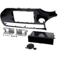 Facade autoradio Kia Kit facade compatible avec Kia Rio - noir brillant - avec vide-poche