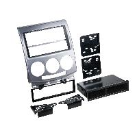 Facade autoradio Mazda Facade autoradio 1DIN compatible avec Mazda 5 05-11 Argent - avec vide poche
