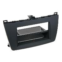 Facade autoradio Mazda Facade autoradio 2DIN pour Mazda 6 ap08 Inbay Avec vide poche Noir Rubber touch - ADNAuto