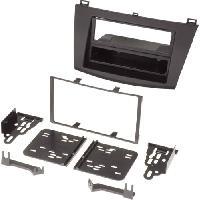 Facade autoradio Mazda Kit 2Din pour Mazda 3 ap10 avec vide-poche - ADNAuto