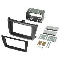 Facade autoradio Mazda Kit Facade Autoradio KA247B compatible avec Mazda 6 08-11 - noir et argent