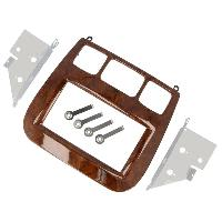 Facade autoradio Mercedes Kit 2Din pour Mercedes Class-S -W220- 98-05 - marron ADNAuto