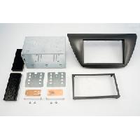 Facade autoradio Mitsubishi Kit 2DIN compatible avec Mitsubishi Lancer ap04 - Noir