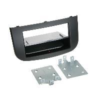 Facade autoradio Mitsubishi Kit Facade autoradio 2DIN compatible avec Mitsubishi Colt ap08 Avec vide poche Induction Qi Noir