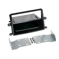Facade autoradio Mitsubishi Kit Facade autoradio 2DIN compatible avec Mitsubishi L200 ap06 Avec vide poche Induction Qi Noir