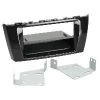 Facade autoradio Mitsubishi Kit Facade autoradio 2DIN compatible avec Mitsubishi Space Star ap13 Avec vide poche Induction Qi Noir brillant