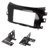 Facade autoradio Nissan Kit 2DIN Autoradio FA507A compatible Nissan Navara NP300 ap15 - Noir brillant - ADNAuto
