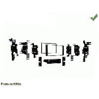 Facade autoradio Nissan Kit 2 Din compatible Nissan NV200 2013+ JUKE 2011+ CUBE 2009+ Generique