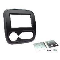 Facade autoradio Opel Facade autoradio 2DIN compatible avec Opel Vivaro ap15 Clim. automatique -Noir mat