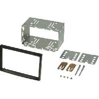 Facade autoradio Peugeot Kit 2Din compatible avec Citroen C2 C3 Fiat Scudo Peugeot 207 307 - Noir Brillant