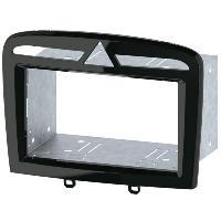 Facade autoradio Peugeot Kit facade autoradio KA437D compatible avec Peugeot 308 408 Noir Laque 2Din