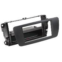 Facade autoradio Seat Facade autoradio 2DIN pour Seat Ibiza ap08 Vide poche Induction Qi Noir Nit Rubber touch Generique