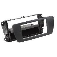 Facade autoradio Seat Facade autoradio FA255B compatible avec Seat Ibiza - Noir Nit avec vide poche