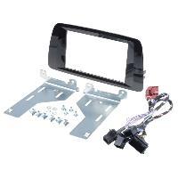 Facade autoradio Seat Kit 2Din Seat Ibiza ap14 noir brillant