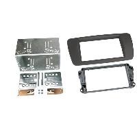 Facade autoradio Seat Kit 2Din compatible avec Seat Ibiza ap08 - Gris tuam