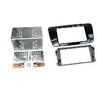 Facade autoradio Seat Kit 2Din compatible avec Seat Ibiza ap08 - Noir brillant