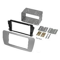Facade autoradio Seat Kit 2Din compatible avec Seat Ibiza ap08 - gris conamera -AS2-