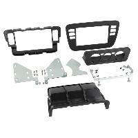 Facade autoradio Seat Kit Facade 2DIN compatible avec Seat Mii Skoda Citigo VW Up ap11 - Noir Vide poche Clim manuelle