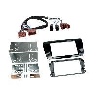 Facade autoradio Seat Kit facade compatible avec Seat Ibiza Noir brillant - Avec rallonge A1BO
