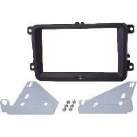 Facade autoradio Skoda Kit 2Din compatible avec Seat Skoda VW - noir brillant