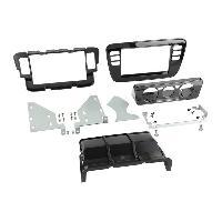 Facade autoradio Skoda Kit integration pour Seat Mii Skoda Citigo VW Up ap11 avec Clim manuelle - Noir Brillant ADNAuto