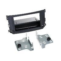 Facade autoradio Smart Kit Facade autoradio 2DIN compatible avec Smart Fortwoo ap10 Avec vide poche Induction Qi Noir