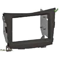 Facade autoradio SsangYong Kit 2 Din pour SSANGYONG TIVOLI ap15 Noir Laque - ADNAuto