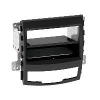Facade autoradio SsangYong Kit Facade autoradio 2DIN compatible avec Ssangyong Korando 10-13 Avec vide poche Induction Qi Noir