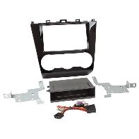 Facade autoradio Subaru Kit Facade autoradio 2DIN compatible avec Subaru Forester ap15 Avec vide poche Induction Qi Noir brillant