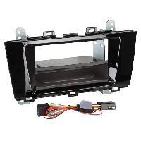 Facade autoradio Subaru Kit Facade autoradio 2DIN compatible avec Subaru Outback ap15 Avec vide poche Induction Qi Noir brillant