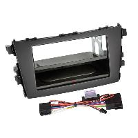 Facade autoradio Suzuki Kit Facade autoradio 2DIN compatible avec Suzuki Celerio ap14 Avec vide poche Induction Qi Noir