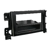 Facade autoradio Suzuki Kit Facade autoradio 2DIN compatible avec Suzuki Grand Vitara ap05 Avec vide poche Induction Qi Noir