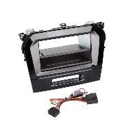 Facade autoradio Suzuki Kit Facade autoradio 2DIN compatible avec Suzuki Vitara ap15 Avec vide poche Induction Qi Noir brillant