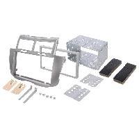 Facade autoradio Toyota Kit 2DIN compatible avec Toyota Yaris ap08 - Argent - ADN-FA