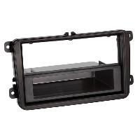 Facade autoradio VW Facade autoradio FA261A compatible avec Skoda VW Seat Avec vide poche - 1Din VP Noir
