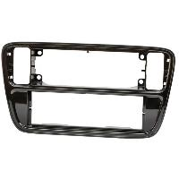 Facade autoradio VW Facade autoradio FA272A compatible avec Seat Mii VW UP Skoda City Go - Noir brillant