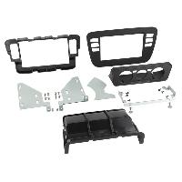 Facade autoradio VW Kit Facade 2DIN Seat Mii Skoda Citigo VW Up ap11 - Noir Avec vide poche Clim manuelle