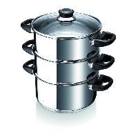 Faitout - Marmite BEKA Cuit vapeur Polo - O 24 cm - Gris - Tous feux dont induction
