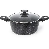 Faitout - Marmite IMF 2404 Faitout en forge d'aluminium - Forge Facon Pierre Marble - O 28 X 12.5 cm - Tous feux dont induction